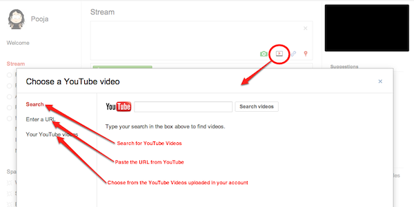 Share YouTube videos on Google+
