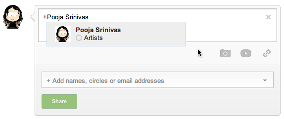 Private Messges on Google+